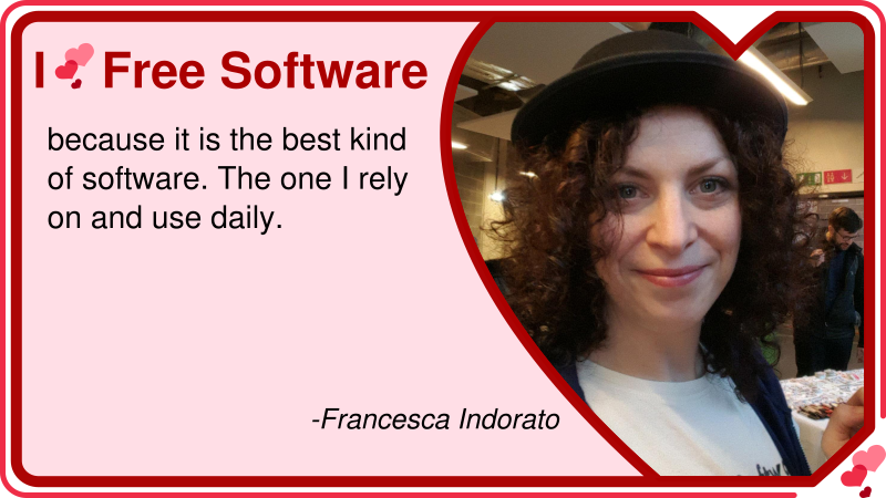 Francesca Indorato: Why she loves Free Software