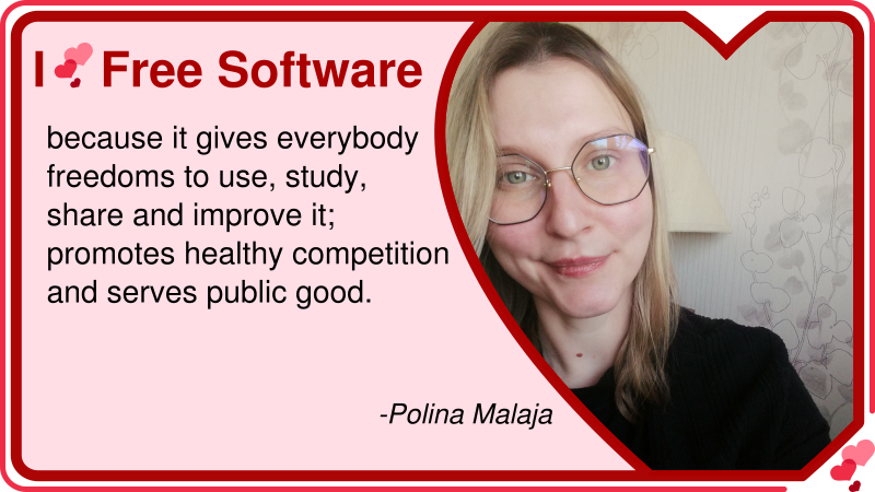 Polina Malaja: Why she loves Free Software